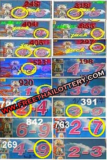 THAI LOTTERY LOTTO SURE TOUCH TIP 01-10-2014