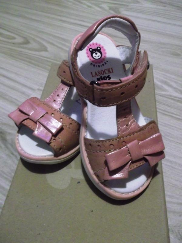 Sandałki lasocki brudny róż