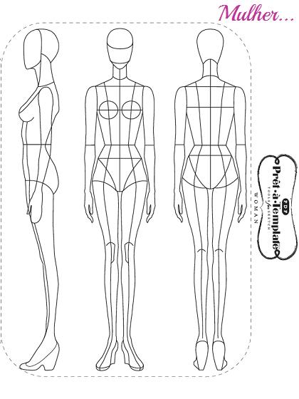 desenho de moda prêt à template virtuosas com estilo