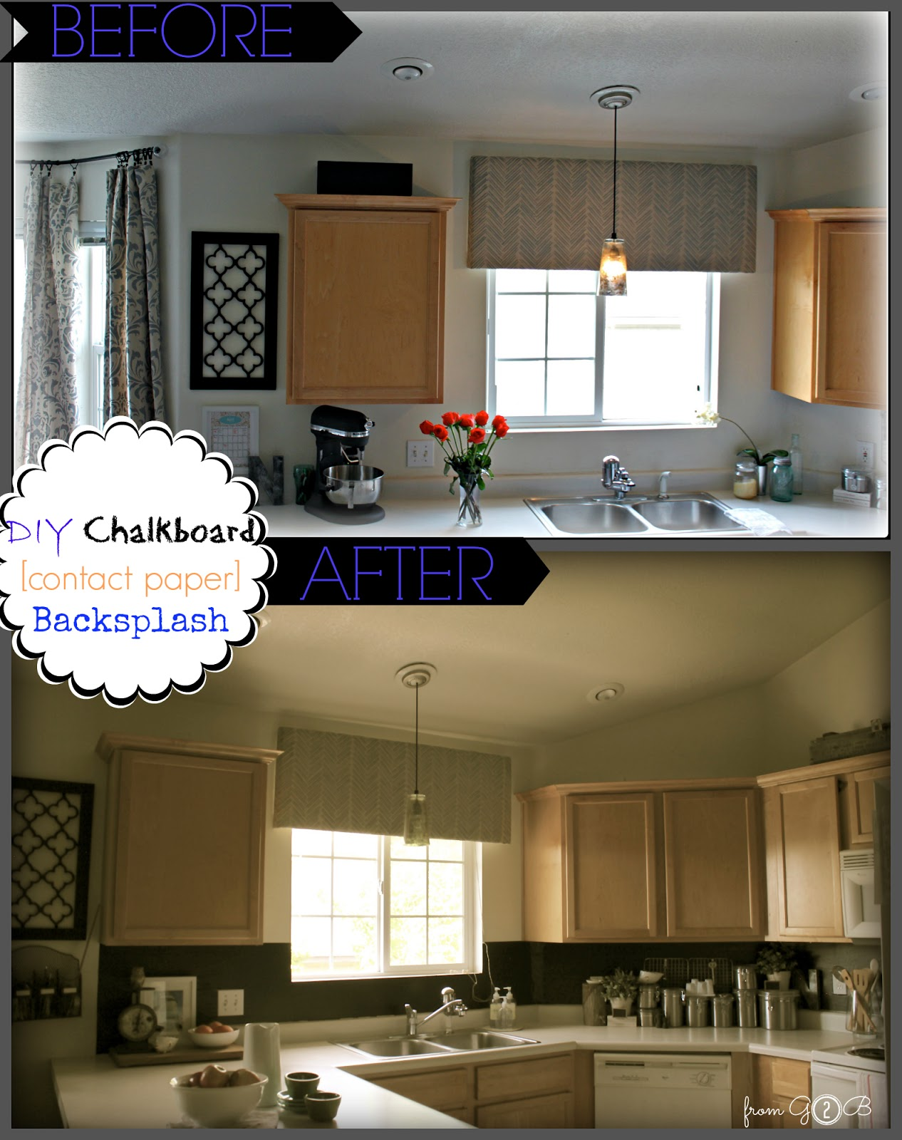 Kitchen Backsplash Contact Paper from gardners 2 bergers: ➷ diy chalkboard 《contact paper