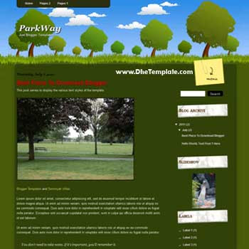 ParkWay Blogger Template. template for personal blog