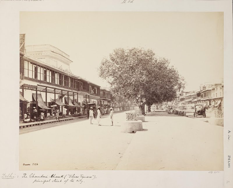 Chandni Chowk, the Main Street in Delhi - c1860's