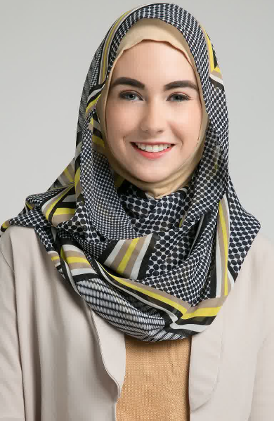 Hijab Modern Segi Empat Simple