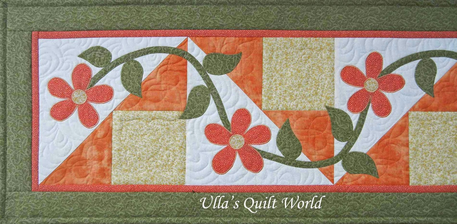 Ulla's Quilt World: Table runner quilt with flowers : table runners quilted - Adamdwight.com