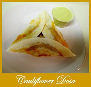 Cauliflower Masala Dosa