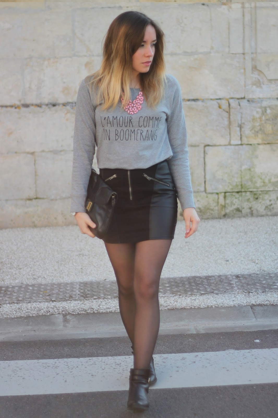 Tenue sweat gris mode