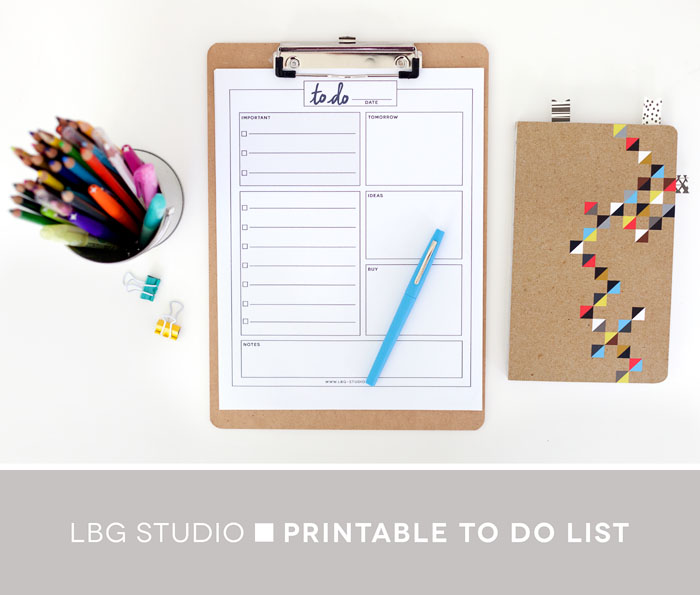 daily to do list free printable lbg studio