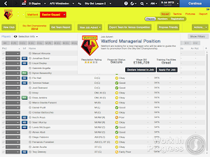 FM14 job advert on club screen