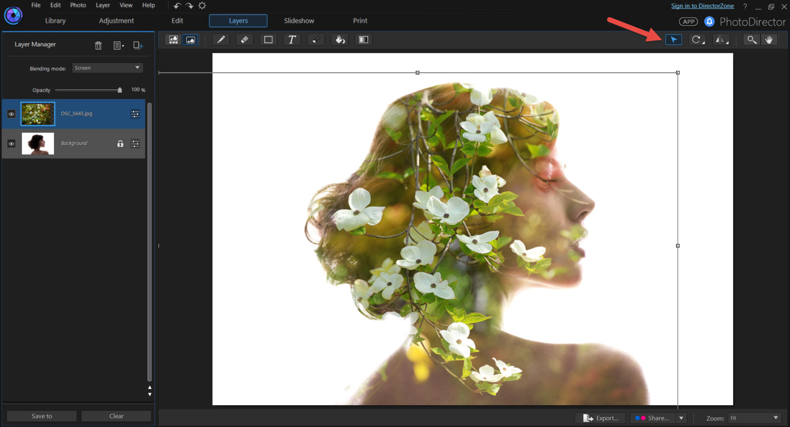 how to create a brush that blends layers