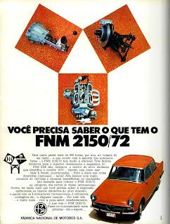 propaganda FNM 2150 - 1972;  1972; brazilian advertising cars in the 70s; os anos 70; história da década de 70; Brazil in the 70s; propaganda carros anos 70; Oswaldo Hernandez;