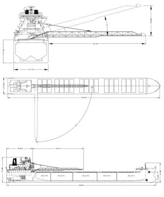 Схемы расположения ленточных конвейеров на судне