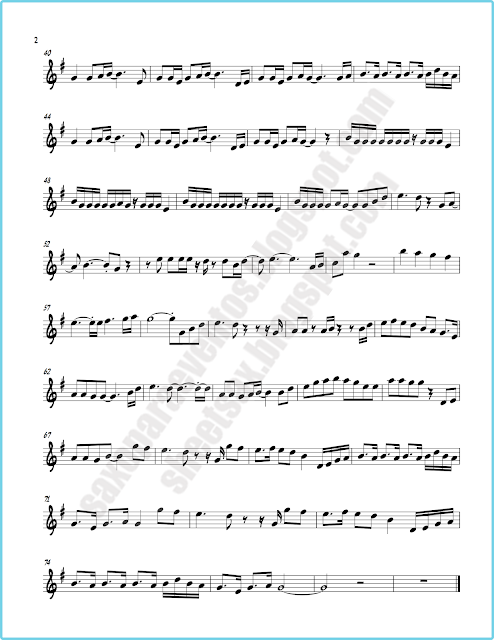 Sheet Music Of See You Again Ft Charlie Puth Furious 7
