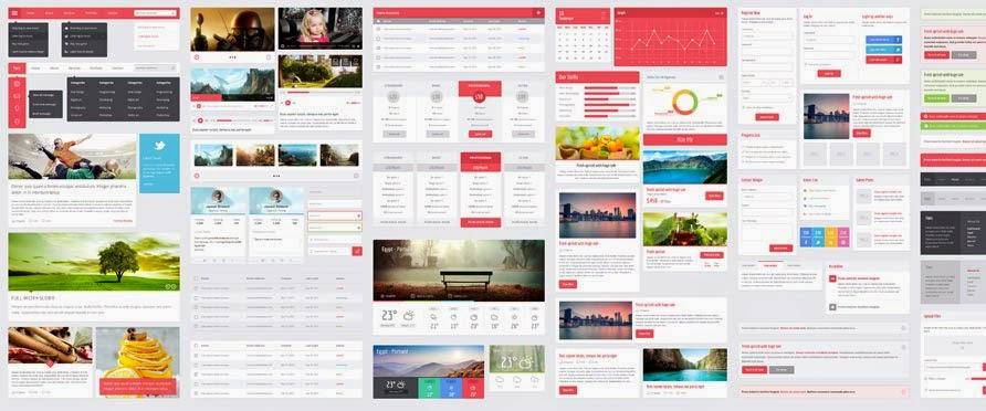 Flatic UI Kit PSD