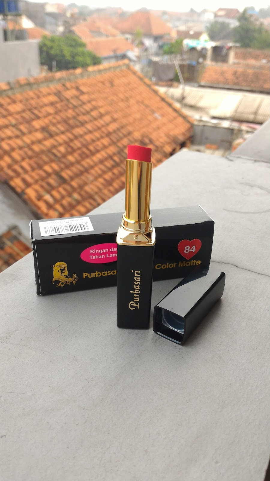 When Lifes Get Hard Do What Makes You Happy Purbasari Lipstick Lipstik Collor Matte Color 84 Ruby Review