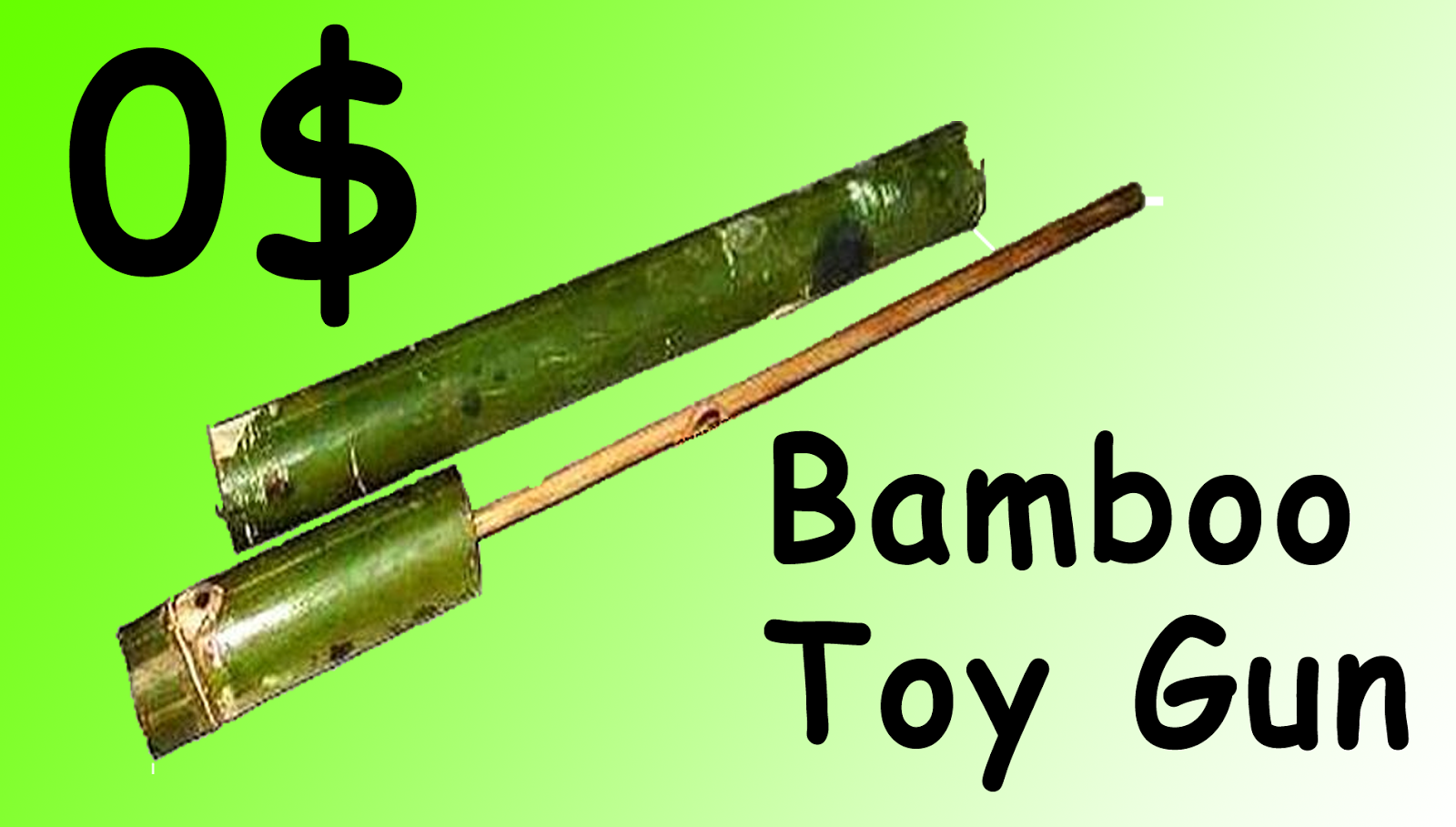 Bamboo Homemade Toy Gun