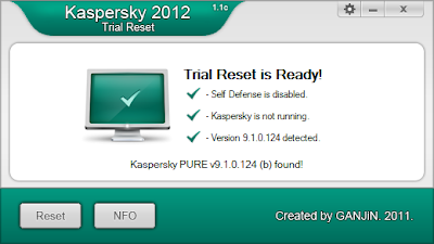 KIS 2012 Trial Reset