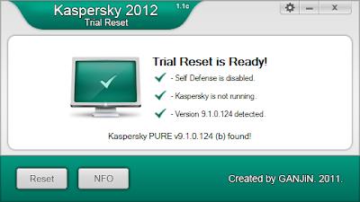KIS 2012 Trial Reset