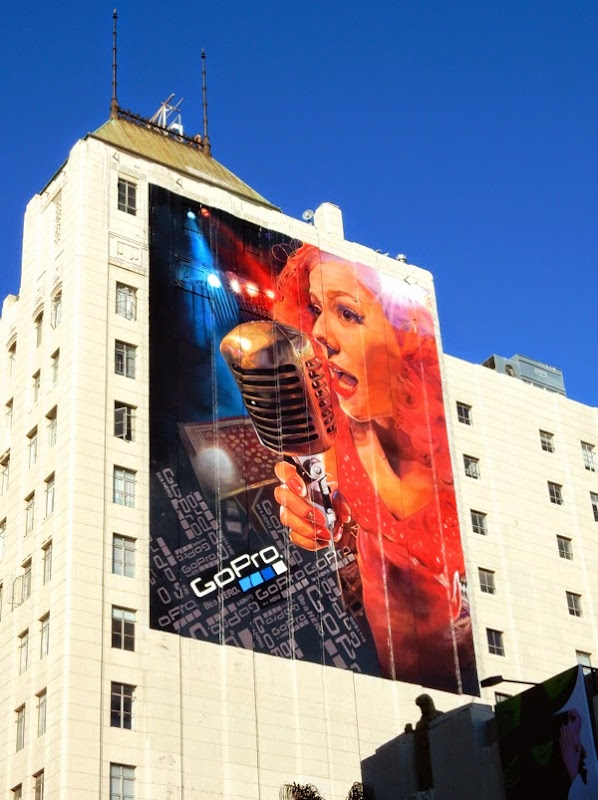Giant GoPro singer billboard Hollywood