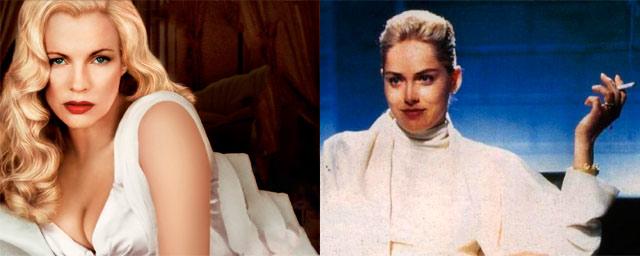 Kim Basinger como Catherine Tramell (Basic Instinct)