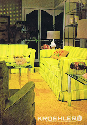 Fabulous chartreuse couches from 1971.