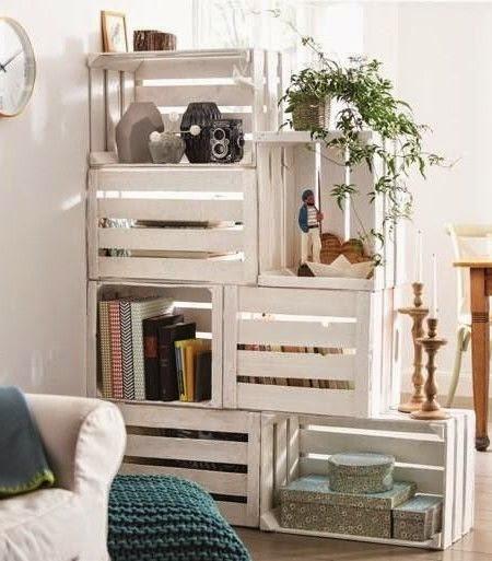 Decoracion con cajas recicladas decorar tu casa es - Decoracion con cajas ...
