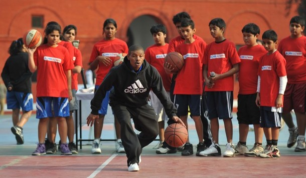 Hoopistani Photos Muggsy Bogues Holds Clinic In New Delhi
