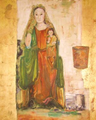 Óleo que la pintora mexicana  Dana Aerenlund