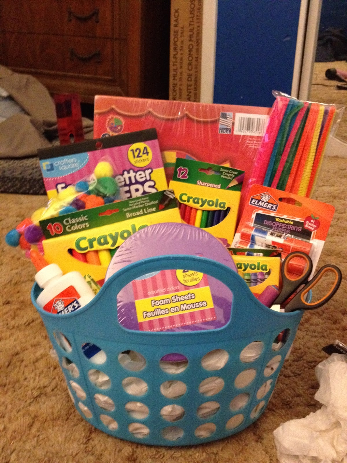 Back to School Gift Basket   Keeping it Crafty and Delicious