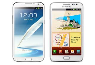 سامسونج جالكسي نوت 2 وسامسونج جالكسي نوت Galaxy Note VSGalaxy Note 2