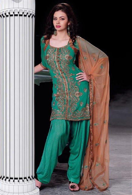 Embroidered shalwaar kameez 2012