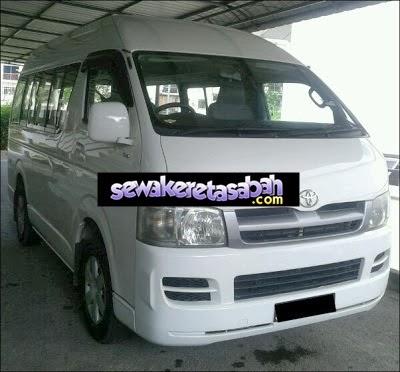 Toyota Hiace Kereta Sewa Sabah