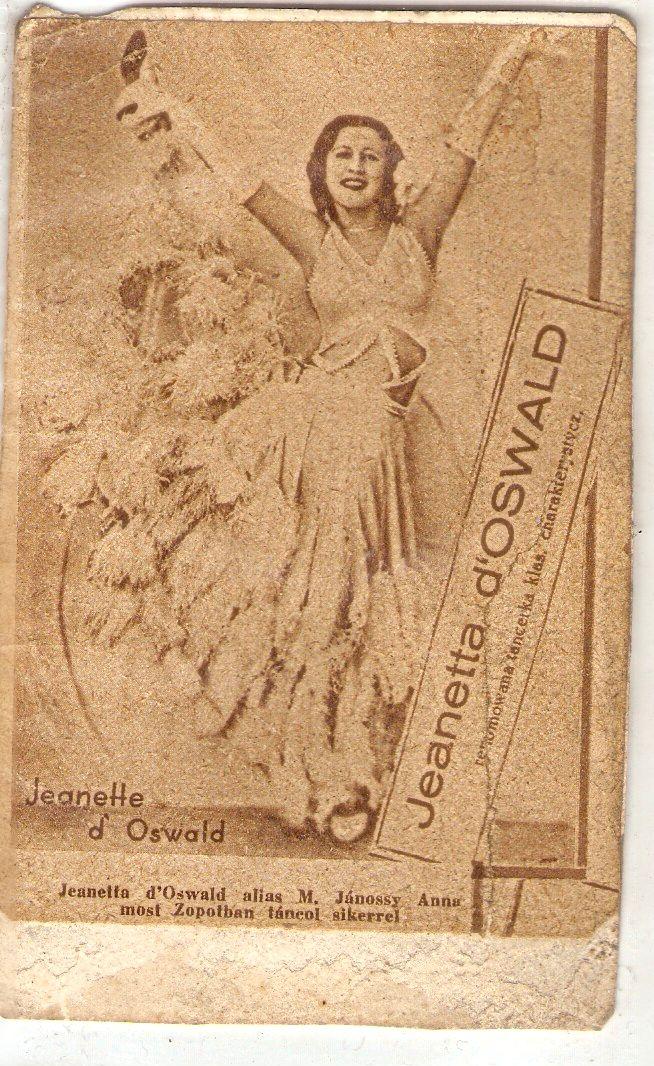 Jeanette d'Oswald alias M. Jánossy Anna