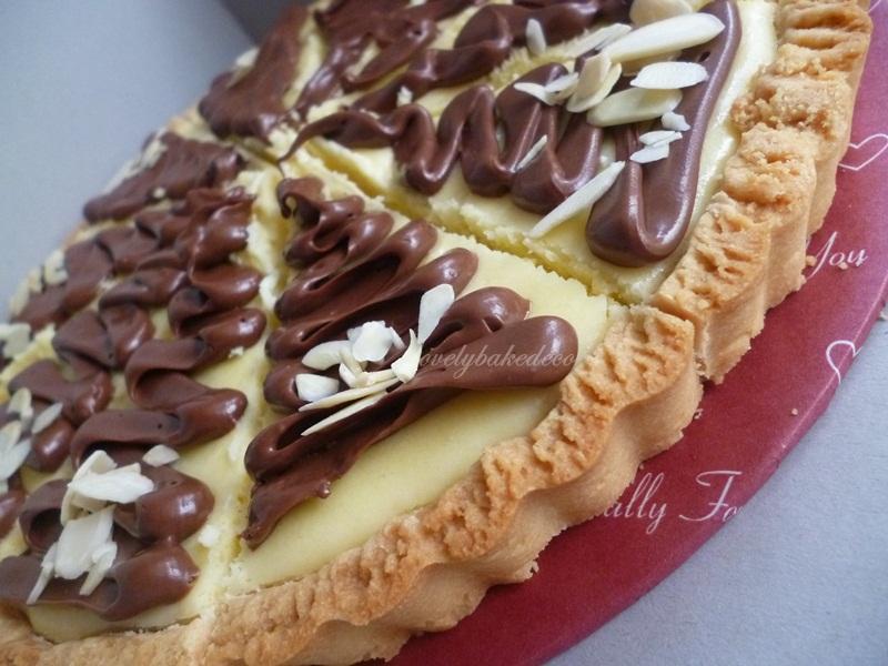 Lovelybakedeco Nutella Cheese Tart