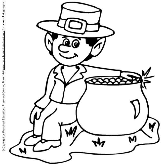 Masami lauman march 2011 for Leprechaun coloring pages