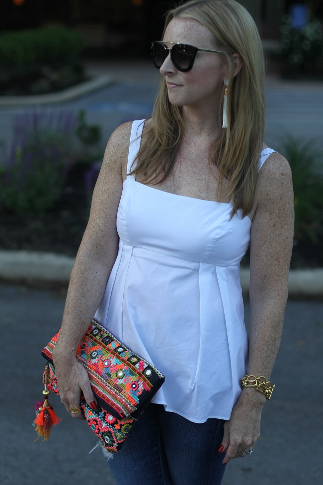 susana monaco top, star mela clutch