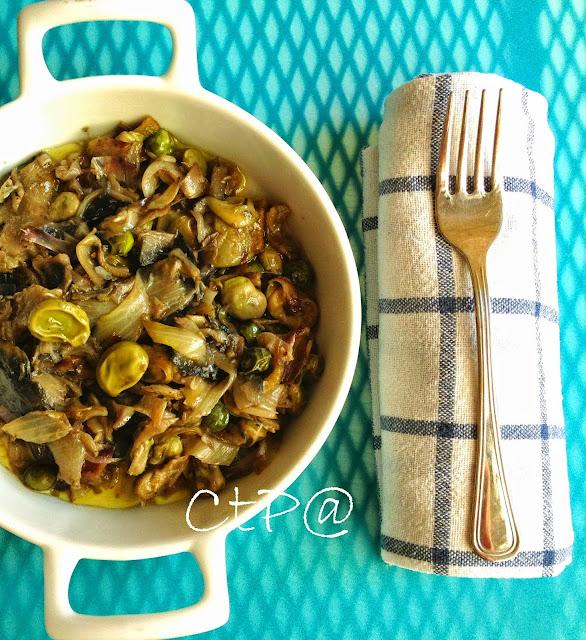 Vignarola carciofi, fave, insalata  e piselli