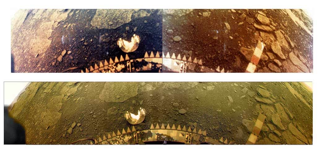 Venera 13 primeras fotos a color de Venus