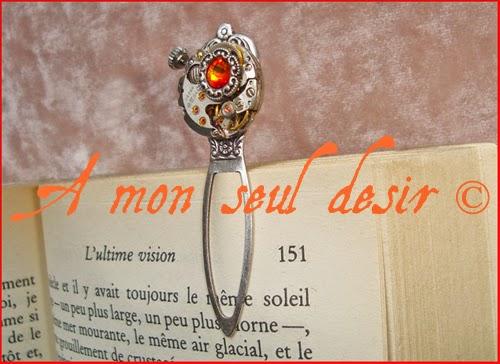 Marque Page Steampunk Accessoire Livre Mouvement Montre Mécanique Watchwork WatchPart Book Mark