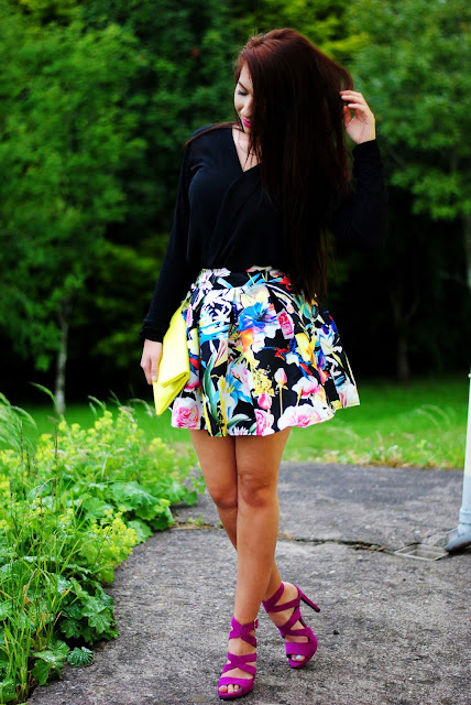 Colourful with black
