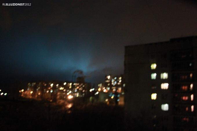 Странные огни и свечения над Харьковом. Конец света