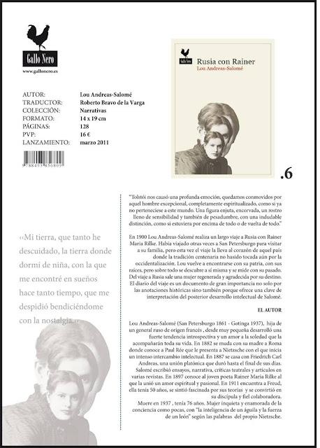 Rusia con Rainer - Lou Andreas von Salomé