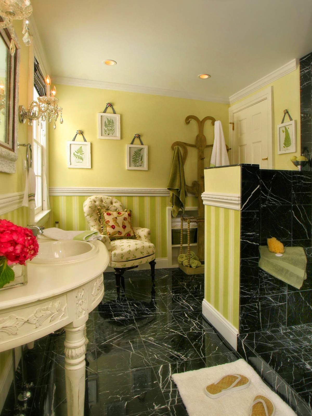 Black Bathroom tiles