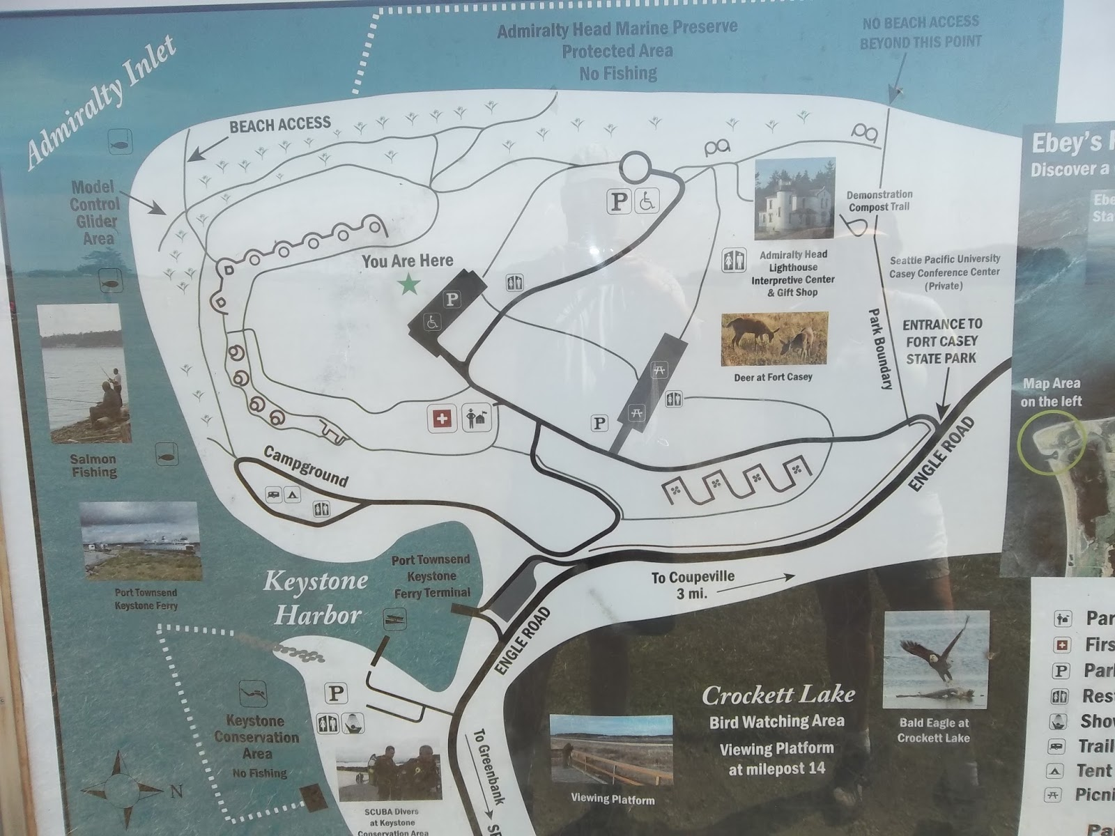 fort casey is on whidbey island in puget sound this map depicts the current day configuration of the park