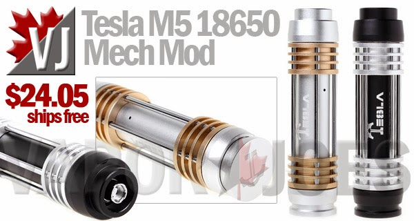 Tesla M5 18650 Mechanical Mod
