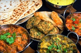 enjoying indian meals with indian spices