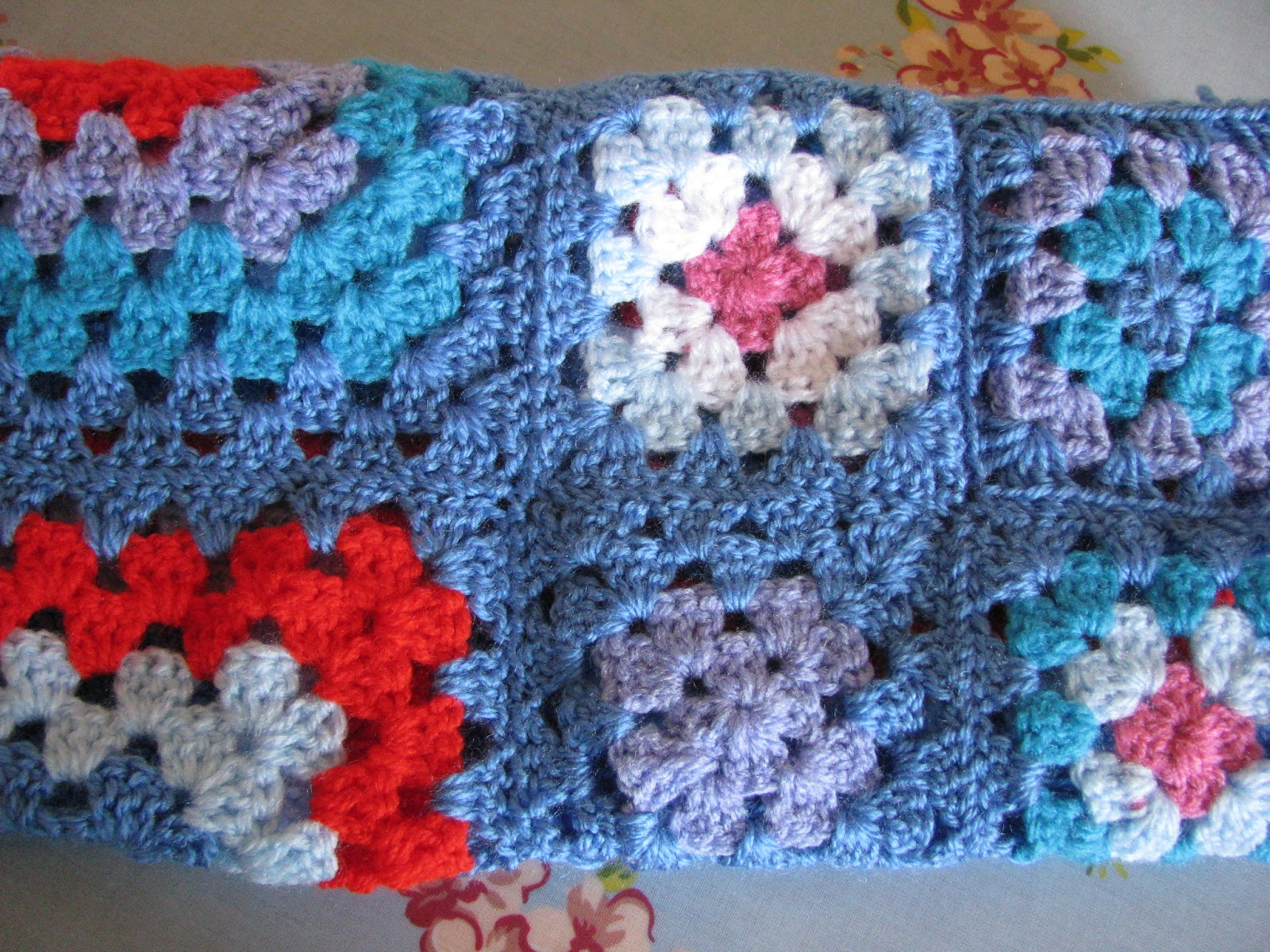Crocheting Granny Squares Together Video : Shortbread & Ginger: Bright Crochet Granny Squares