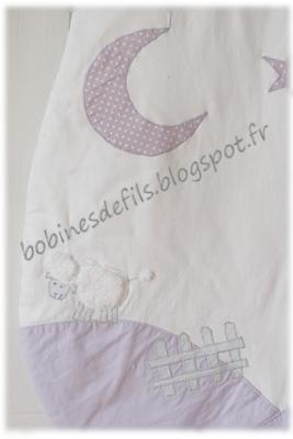 La gigoteuse étoilée & ses moutons (détails) / bobinesdefils.blogspot.fr
