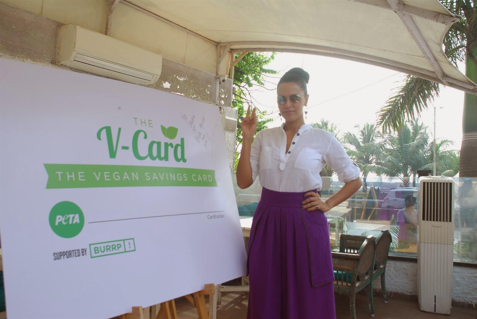 Neha Dhupia Launch PETA's V-Card Pics