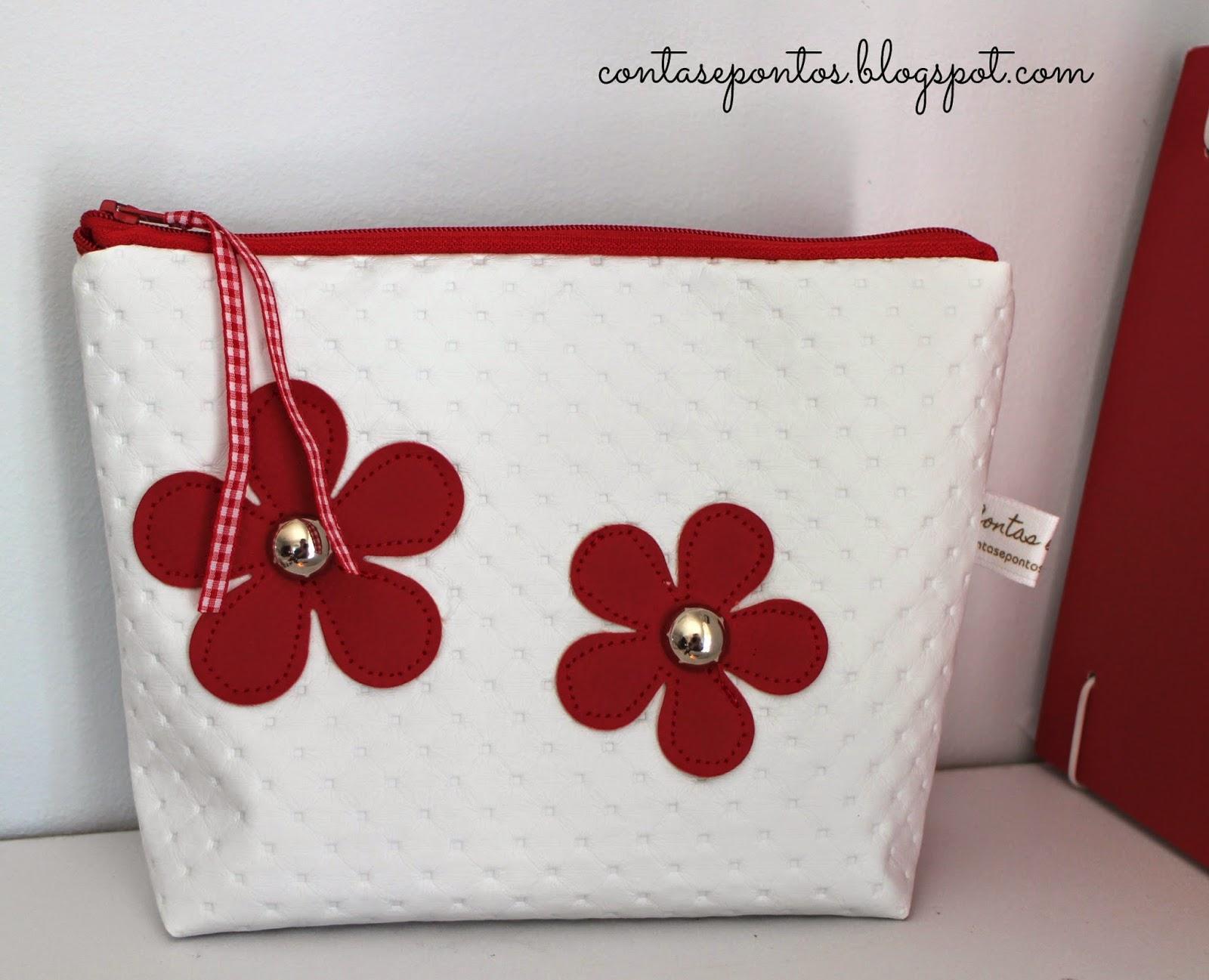 bolsa em tecido com flores