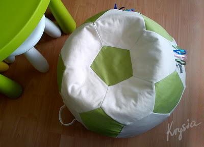 poducha piłko pufa z tasiemkami